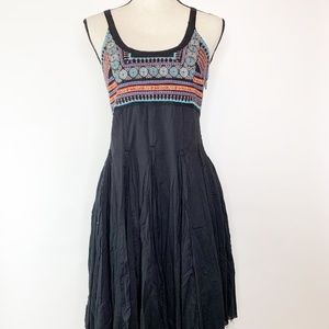 Free People Boho Embroidered Handkerchief Dress